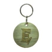 The Pet Jeweller - Alphabet Dog ID Tag - Textured brass on plain brass