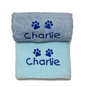 My Posh Paws - Personalised Puppy Gift Set - Blue
