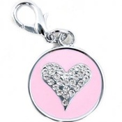Puchi - Starry Eyed Heart Tag - Pink