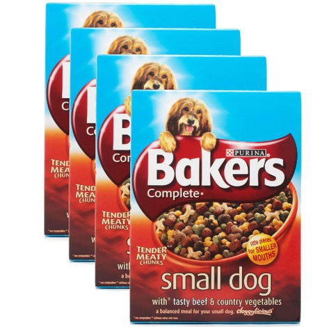 Complete Small Dog Beef Dog Food x 4