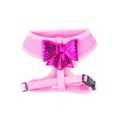 Pink Sequined Bow Dog Harness