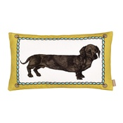 Lisa Bliss - Dachshund Mustard Baguette Cushion