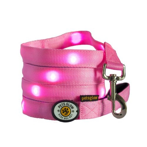 Outshined LED Dog Lead Pink