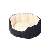 House of Paws - Memory Foam Oval Dog Bed – Navy
