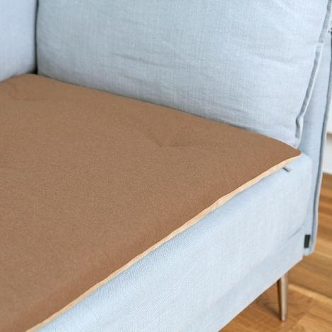 Wool Sofa Topper - Camel 2