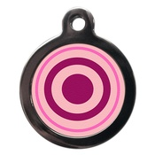 PS Pet Tags - Pink Bulls Eye Pet ID Tag