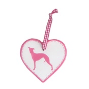 Free Spirit Designs - Dog Breed Ceramic Heart - Pink