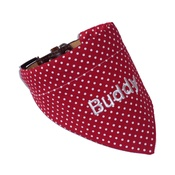 My Posh Paws - Personalised Dog Bandana – Red & White Polka Dot