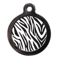 Zebra Print Pet ID Tag