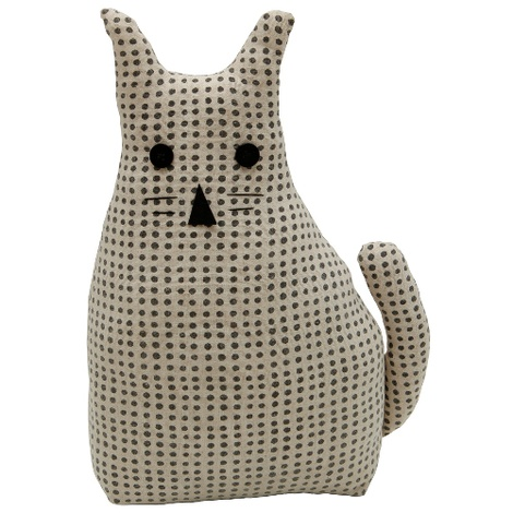 Morgan Wright Country Lace Cat Doorstopper Charcoal