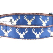 Pet Pooch Boutique - Country Stag On Navy Blue Collar