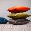 Velvet Scatter Cushion - Tangerine