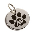 K9 Black Paw Dog ID Tag