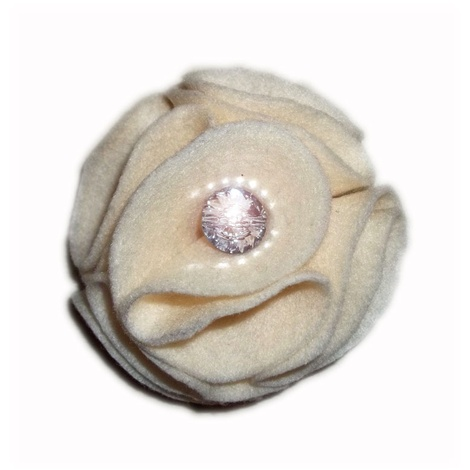 Ivory Dog Collar Flower 2