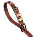 Paris Croc Leather Dog Collar – Burgundy & Stone  2
