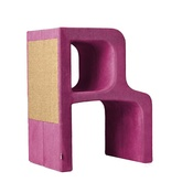 Catworks - Scratching Post - Letter R - Pink