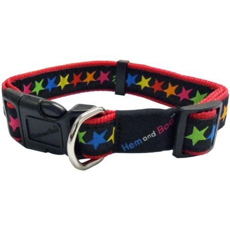 Black Stars Adjustable Dog Collar