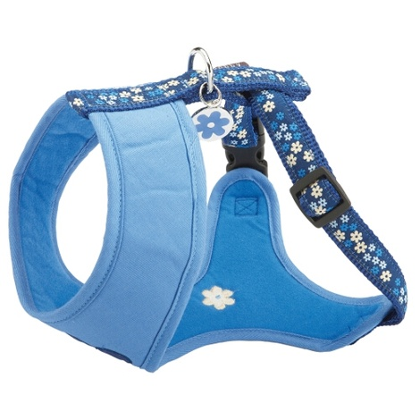 Flower T Shirt Harness - Blue