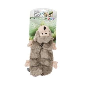 Gor Wild Multi-Squeak Dog Toy - Monkey