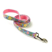 Yellow Dog - Flower Power on Pink Polka Lead Uptown Range