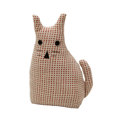Morgan Wright Country Lace Cat Doorstopper Raspberry