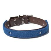 Mann and Moon - Harris Tweed Cobalt Blue Collar