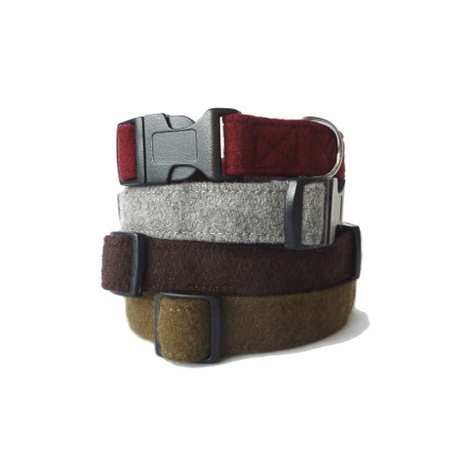 Wool Collar - Maroon  2