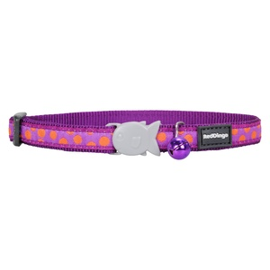 Orange Spots on Purple Cat Collar