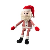 House of Paws - Tweed Santa Plush Dog Toy