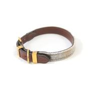 Teddy Maximus - The Otis Sand Shetland Wool Leather Dog Collar