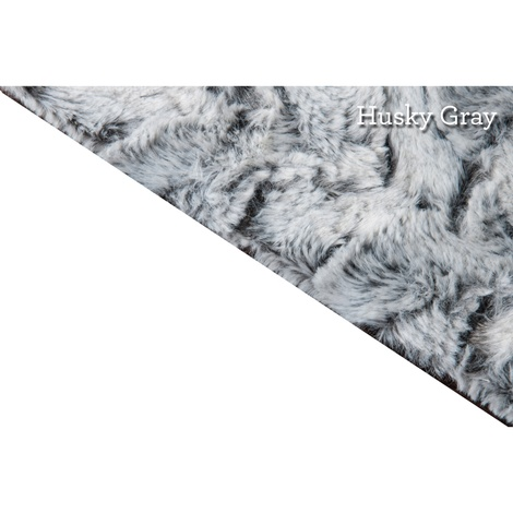 Luxe Dog Throw – Husky Gray 4