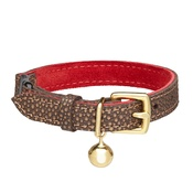 Cheshire & Wain - Red & Bronze Festive Cat Collar