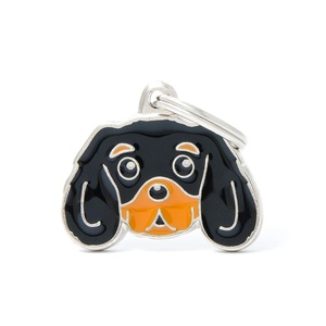 Cavalier King Charles Spaniel Engraved ID Tag – Black