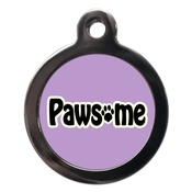 PS Pet Tags - Lilac Pawsome Dog ID Tag