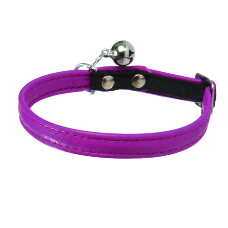 Large Escapade Leather Cat Collar – Pink