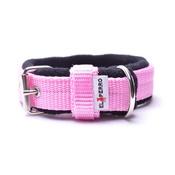 El Perro - 2.5cm width Fleece Comfort Dog Collar – Baby Pink