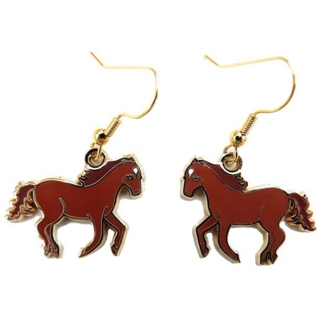Wild Horses Enamel Earrings