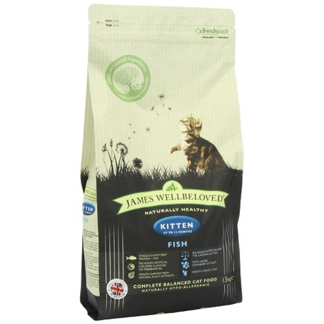 JW Fish & Rice Kitten Dry Food 1.5kg