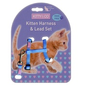 Hem & Boo - Snag-Free Kitten Harness & Lead Set - Blue