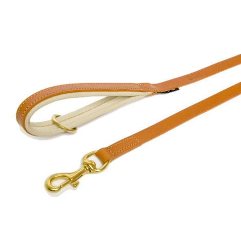 Tan & Cream Colours Leather Lead