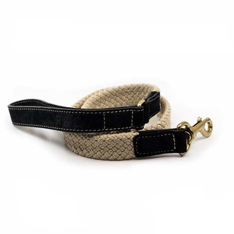 Rope lead (flat) - Black