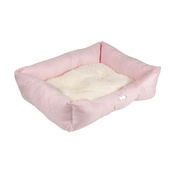 Pet Pooch Boutique - Pink Sherpa Fleece Dog Bed
