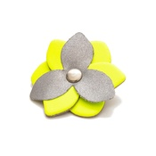 Hiro + Wolf - Reflective Flower Accessory - Limeade