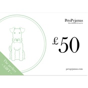 PetsPyjamas - £50 Product Gift Voucher in a Gift Box