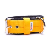 El Perro - 4cm Width Fleece Comfort Dog Collar – Yellow