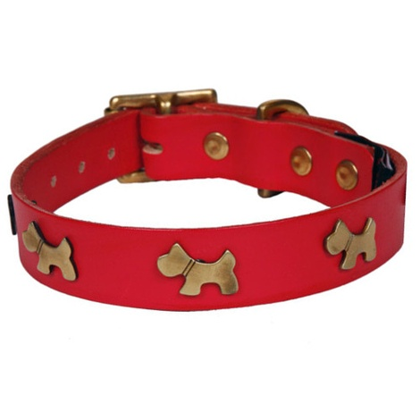 Doggy Studs Collar Red
