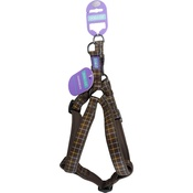 Hem & Boo - Check Padded Dog Harness - Brown