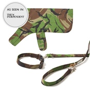PetsPyjamas - Pawditch Camo Dog Collar, Lead & Coat Set