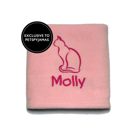 Personalised Cat Blanket - Pink