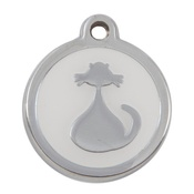 Tagiffany - My Sweetie White Cat Pet ID Tag